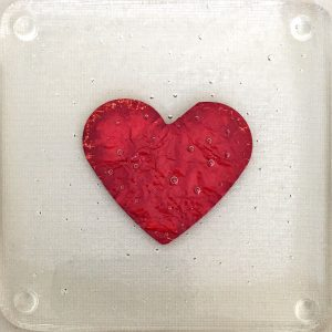 Valentine Day Love heart Coaster firefrost designs
