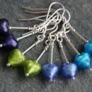 Murano heart drop earrings from Firefrost Designs