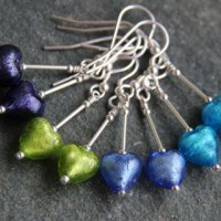 Murano heart drop earrings from Firefrost Designs