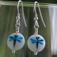 Dragonfly earrings from Firefrost Designs