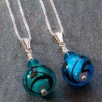 Caramella pendant in turquoise or marino from Firefrost Designs