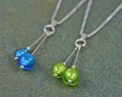 Carina duo pendant in lime from Firefrost Designs