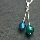 Carina duo pendant in turquoise from Firefrost Designs