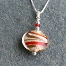 Juiletta pendant in red and gold from Firefrost Designs