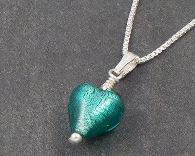 Murano glass heart pendant Marino - Bellina