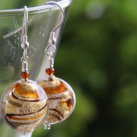 Murano glass disc earrings from Firefrost Designs