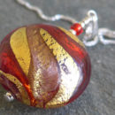 Red-and-Gold-Murano-glass-pendant