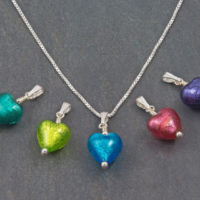 Bellina Murano Glass Heart Pendant