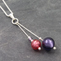 Carina Duo Pendants - Pink and Purple