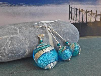 Lakeland Waters Pendant and Earrings