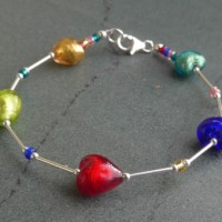 Small heart bracelet from Firefrost Designs