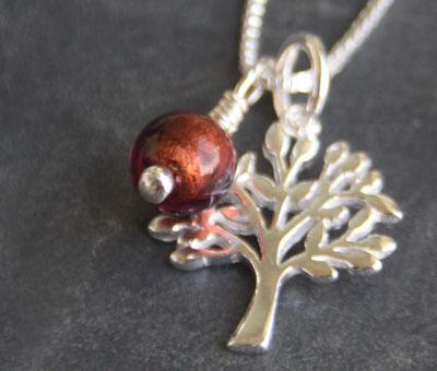Tree of Life pendant with Topaz Charm