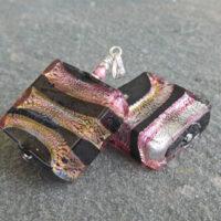 Aurora Square Murano glass pendant