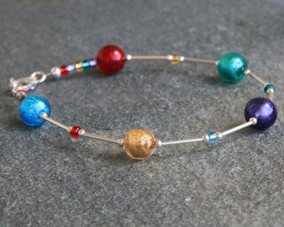 Murano glass jewels bracelet by Firefrost