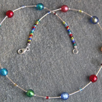 Murano glass necklace by Firefrost