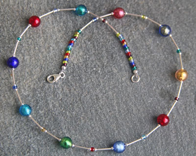 Murano glass necklace - Carina Jewels
