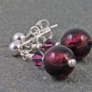 Carina tiny crystal earrings in amethyst from Firefrost Designs