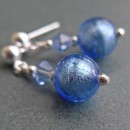 Carina short crystal earrings in sapphire from Firefrost Designs