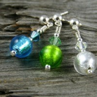 Carina Short Earrings in various colours from Firefrost Designs