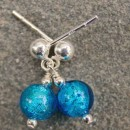 Carina tiny crystal earrings in turquoise from Firefrost Designs
