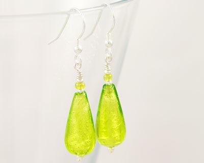 Green-Murano-glass-earrings