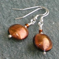 Topaz Disc Earrings