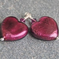 Murano Heart Amethyst