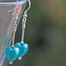 Glass Heart Earrings by Firefrost