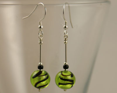Caramella Murano glass earrings by Firefrost