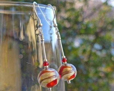 Murano glass Juiletta earrings from Firefrost Designs