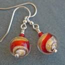 Murano glass Juiletta short earrings from Firefrost Designs