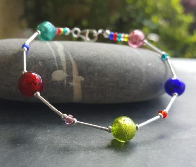 Murano glass bracelet Carina brights