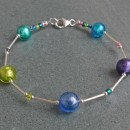 Murano glass multi coloured bracelets from Firefrost Designs