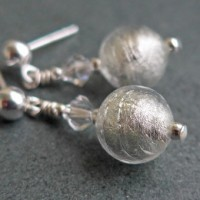 Carina tiny crystal earrings from Firefrost Designs