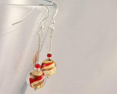 Murano-glass-earrings-Red-a