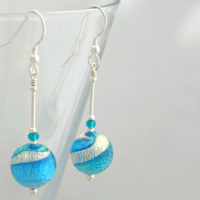 Ripples Murano glass earrings by Firefrost