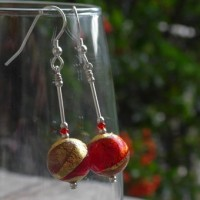 'Lakeland sunset' murano glass earrings from Firefrost Designs