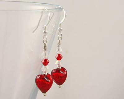 Red-Murano-Glass-earrings