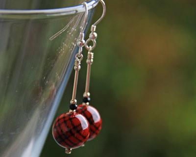 Tartan-Earrings-Round