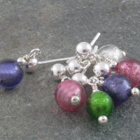 Carina Tiny Murano glass earrings