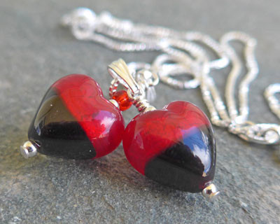 Murano-glass-red-and-black-