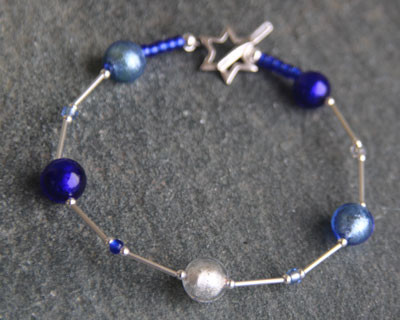 Firefrost Murano glass bracelet