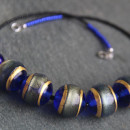 Firefrost Murano glass necklace in Cobalt Blue