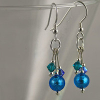 Lakeland Waterfall Murano glass and Swarovski Crystals