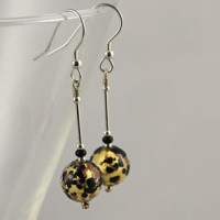 Gold & Topaz earrings by Firefrost