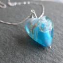 Rosella Murano glass heart pendant Aqua 2
