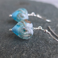 Rosella Earrings in Aqua