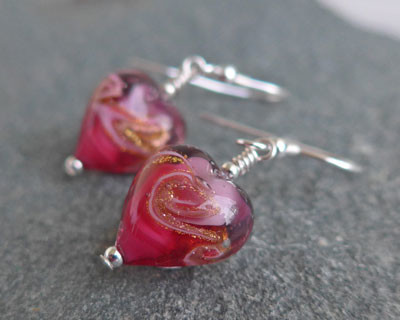 Rosella Earrings in Rose