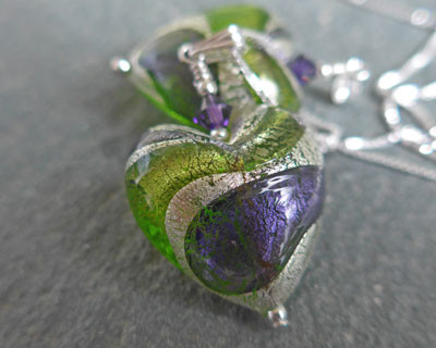 Murnao glass Lakeland Heart Pendant