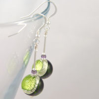 Earrings Murano glass Lakeland in Purple and Green